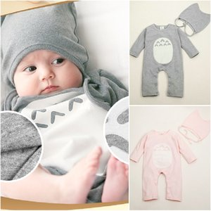 Toddler Girl Clothes Cartoon Boy Clothing Newborn Baby Clothes Soft Warm Footies Baby Romper Hat Outfits Clothes