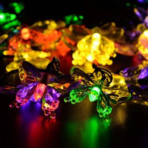 Borboleta LEVOU Solar Powred Fariy String Luz 7 M 20 leds Festa Ao Ar Livre de Natal Ano Novo Aniversário Decoração
