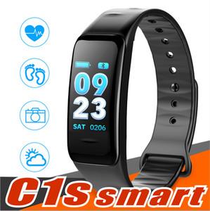 Pressão C1S aptidão Trackers inteligente Pulseira Atividade Heart Rate Monitor de Sangue IP67 impermeável inteligente Wristand Para Smartphones Android