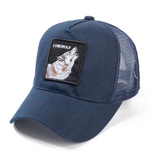 Berretto da baseball lupo di alta qualità Berretto da baseball in cotone traspirante con chiusura a scatto Cappellino estivo da sole per donna Uomo Bone Hip Hop Dad Hat