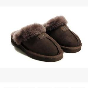VENTA CALIENTE Zapatillas de algodón caliente de alta calidad Zapatillas de hombres y mujeres Botas cortas Botas de mujer Botas de nieve Diseñador Zapatillas de interior de algodón