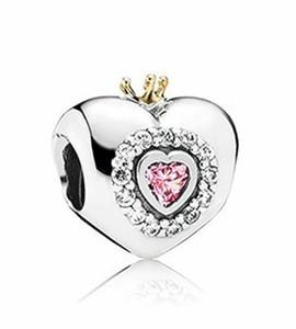 Любовь бусины Кристалл вымощает Шарм Оптовая S925 стерлингового серебра подходит Пандора стиль подвески браслеты бесплатная доставка