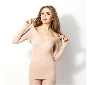 Großhandel Winter-37 Grad konstante Temperatur Thermo-Unterwäsche für Frauen ultradünne elastische Thermo-Unterwäsche Nahtlose Unterwäsche