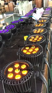 4 pieces IP 65 LED Par DMX Waterproof LED Wall Washer 7*15w RGBWA 5 in 1 Spot DMX Outdoor slim led par light