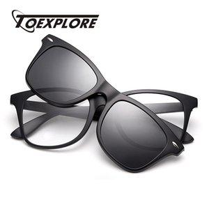 Оптовая клип на очки поляризованные женщины мужчины солнцезащитные очки Марка дизайнер очки рамка роскошные солнцезащитные очки высокое качество UV400