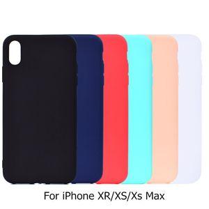 Iphone xs max xr için case ultra-ince yumuşak silikon düz gömme kapak iphone 10 s xsmax 10r case 6.1 6.5 ''