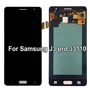 Super AMOLED LCD para Samsung Galaxy J3 pro J3109 J3110 J3119 Pantalla LCD Pantalla táctil digitalizador Reemplazo de ajuste brillante