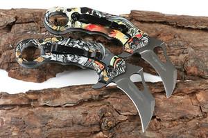 Распродажа!! X73 Керамбит лапка складной нож 440C Серый титан покрытием клинка 3D Printed сталь Ручка EDC карманные ножи Подарочный нож
