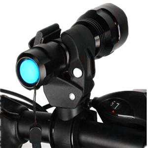 Ciclismo Bike Mount Holder Bike Torch Holder Soporte para deportes al aire libre Clip de abrazadera Lantern Black Bicycle Lights
