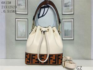 High quality fashion shoulder bag leather bucket bag female brand designer handbag high quality strapping Messenger bag purse free mailing