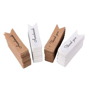 Danke Brief Kraft Paper Blank Paper Fallumbau handgemachtes Geschenk Lesezeichen Schwarz Papier Hang-Aufkleber Weihnachtsumbau 200pcs / bag