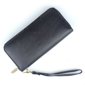 High Capacity Fashion Women Wallets Long PU Leather Female Zipper Clutch Coin Purse Ladies Wristlet bag black red