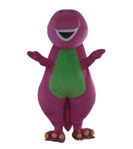 I costumi adulti della mascotte del fumetto di Barney dell'adulto di vendita diretta 2018 sulla dimensione dell'adulto liberano il trasporto