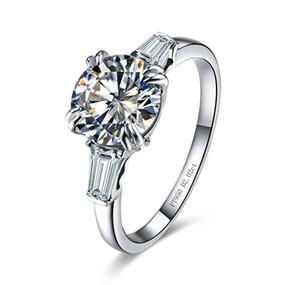 2014 nouveau 2 Carat De Luxe Brillant Diamants Synthétiques De Mariage De Fiançailles Proposition De Mariage Anneau pour les Femmes S923