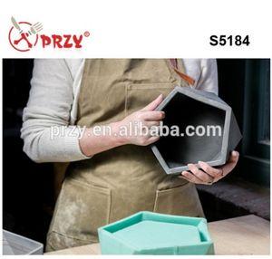 Silica gel Silicone molde De Concreto De cimento Reutilizável Mould 3D vaso e plantadores de moldes de silicone para o plantador de concreto fazendo S5184