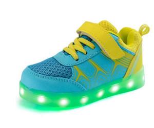 2018 популярные дети блеск все новые светодиодные фонари обувь повседневная обувь USB зарядки красочные световой спортивная обувь