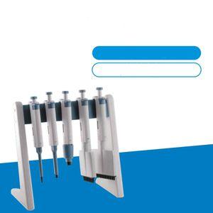 Pipetta da laboratorio con supporto lineare, in grado di contenere fino a 6 pipette multicanale