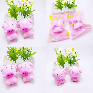 Розовый Джамбо свинья Squishy медленный рост Squeeze Каваи Squishies мягкие игрушки декомпрессии для детей День Рождения новинка подарки 8 71bq ZZ