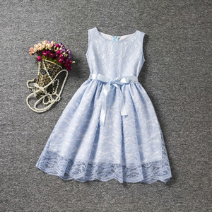 Fancy Lace Flower Girl Dress Baby Kids Vestidos Little Princess Children's Dress Girl Party Costume Teen Girl Clothes 4-10 años