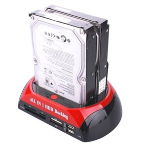 """All in 1 HDD Docking 2.5"""" 3.5"""" IDE SATA HDD Hard Drive Disk Clone Holder Dock with Multi Card Reader UHB"""