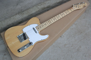 중국 사용자 정의 기타 공장 최신 사용자 지정 자연 telecaster 일렉트릭 기타 재고 있음 무료 배송! 10 25