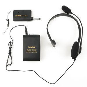 Freeshipping Portable VHF Stage Wireless Lavalier Risvolto Microfono Sistema Mic Trasmettitore FM Trasmettitore Bodypack