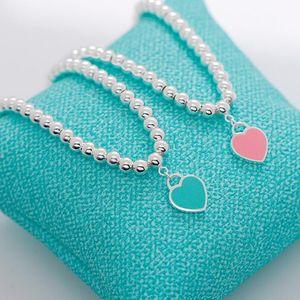 jóias de luxo S925 prata esterlina esmalte pulseiras pingente de coração Blue Buddha contas forma quente livre do transporte
