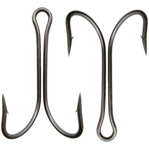30pcs Fishing Double Hooks Saltwater Double Hook High Carbon Steel Black Dual Fishing Hooks 8#-4 0