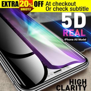 Высокое качество заводская цена двойное подкрепление 5D полное покрытие закаленное стекло протектор экрана для iPhone X 8 7 6 6 S Plus iPhoneX XS MAX XR