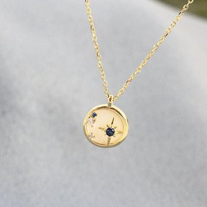 jóias S925 prata colar shell círculo pingente de colar redonda para mulheres moda quente gratuitos de transporte