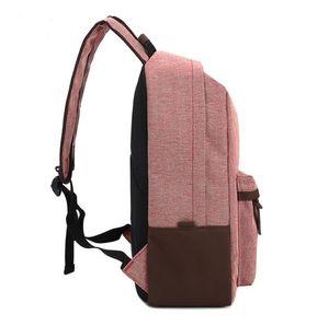 Schoolbag Canva + Oxford Sac à dos Toujours Voyage Striché Loisirs Sac à dos haute capacité Mode Sacs de plein air Tissu Sans sac A35 Qnoqt