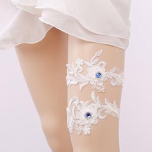 gtglad Бесплатная доставка Белый женская сексуальная подвязки кружева пояс ноги кольцо жгут свадебный подвязки набор Кристалл горный хрусталь свадьба