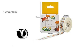 Fashion 10metersx15mmx0.01mm,Hot adhrisve film paper tape,nice gifts packing AD use film adhesive tape