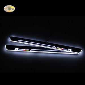 SNCN светодиодная вращающаяся педали накладки на пороги для Volkwagen Гольф 7 2014-2015 автомобиля Сид Acrylic дверь порога добро пожаловать педали