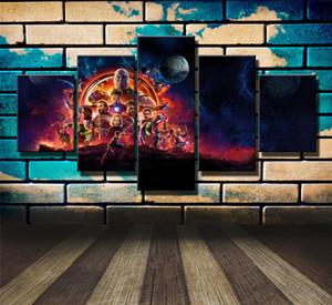 Avengers Infinity War Poster -03,5 Pièces Impressions Sur Toile Peinture À L'huile Peinture À La Maison Décor À La Maison (Sans Cadre / Encadré)