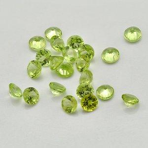 Buen Qualtiy 100% de piedra natural Peridot redondo de 1,0 mm-2 mm Gema Suelto de oro y plata joyería que hace 500pcs Un lote
