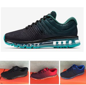 Nike Air Max 2017 Drop shipping 2017 Uomo donna Scarpe BENGAL Arancione Grigio Nero Oro 2017 KPU cuscino outdoor walking shoes Uomo Scarpe 40-46