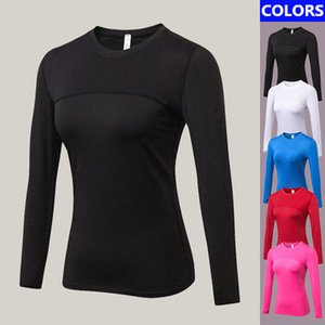2019 New Yoga T Shirt Women Sport Tops Long Sleeves Elastic Spandex Quickly Drying Female Sportswear Warm Mesh Fitness Gym Running Clothes
