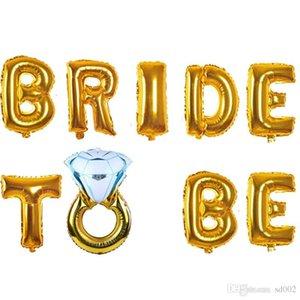 16 Polegadas Folha de Alumínio Balão de Noiva Para Ser Anel de Diamante Balões de Ar Letras Decoração de Casamento Airballoon Decoração Do Partido 5 2AK BB