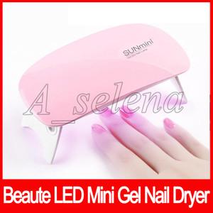 Lámpara LED UV mini secador del clavo de uñas del gel Potente USB Luz polaco Clavos faciales herramientas del clavo herramientas de cuidado de secado rápido 6W Máquina Rosa Blanco