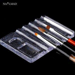 1 adet Nail Art Akrilik Fırça Tutucu Kristal Akrilik Ekran Standı UV Jel Fırça Kalem Tırnak Araçları için Istirahat Araçları