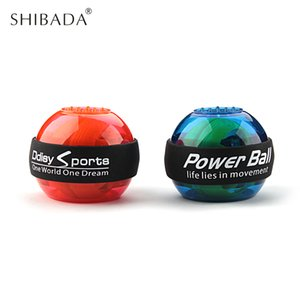 SHIBADA مضيئة سوبر الدوران الذراع الكرة المعصم الجيروسكوب الرول جهاز قوة الكرة الدوران السلطة المعصم قوة التدريب
