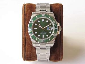Produto de fábrica VR relógio verde dos homens. Equipado com 2836 movimento automático. Espelho de safira. Relógio de desporto de qualidade superior em aço inoxidável 3A