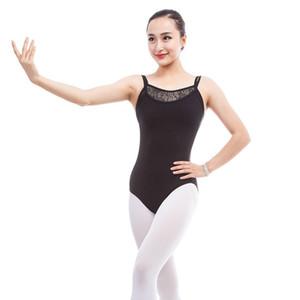 kadın kostümleri için dans giyim yetişkin jimnastik yarışma dancewear dantel bale mayoları seksi Backless Kolsuz bodysuit