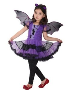 2017 New Arrival Halloween Party Children Kids Cosplay Witch Costume For Girls Halloween Costume Party Witch Dress With