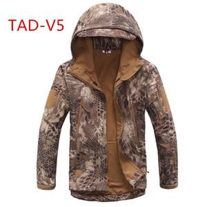 Taktik TAD ceket softshell Su Geçirmez Rüzgar Geçirmez Ceketler Ordu Kamuflaj Açık Spor Yürüyüş Giyim Giyim Y1893006