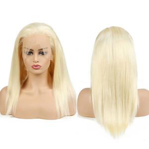 Pelucas llenas del cordón del frente del cordón del pelo humano brasileño 613 pelucas del pelo humano de las mujeres malasias peruanas indias rubias rectas