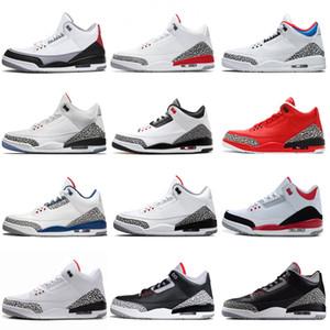 Zapatos de baloncesto de los hombres Negro Cemento Blanco de Tiro Libre Línea JTH NRG Tinker Hartfield Seúl para hombre Deporte True Blue Instructores III zapatilla de deporte para mujer # 1