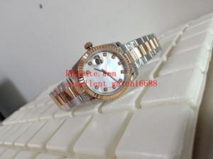 Unisex pulso de pulso 36 mm 116231 279173 18k Rose Gold Mãe de Pearl White Diamond Dial Asiático 2813 Mecânica Mecânica Automática