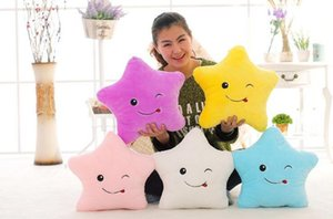 1pc LED Flash Light Hold pillow five star Doll Plush Animals Stuffed Toys lighting Gift Children Christmas Gift Stuffed Plush toy